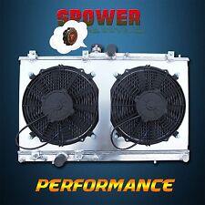For Mitsubishi Lancer Saloon EVO 7 8 9 Aluminum Radiator + 120W Fan Shroud CT9A