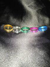 Jewellery Fashion Aluminium 5 Rings Brand New Multi Mix Colour