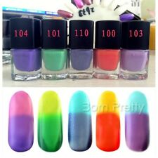 1Pc 6ml Temperature Change Colour Multicolor Thermal Nail Art Varnish Polish