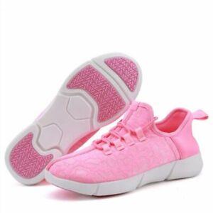 Children Shoe Luminous Sneakers Breathable Glowing Fiber Optic Tenis  Led Girls
