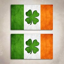 Ireland Flag Distressed Decal Sticker Irish Clover IRL Graphic 2 Decals