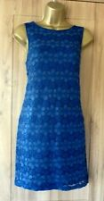 New Look Navy Blue Lace Floral Occasion Xmas party Tunic Mini Dress Size 10