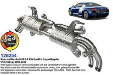 Performance Sport exhaust muffler for AUDI R8 5.2 FSi Quattro V10 532hp '09-'12