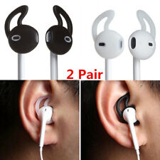 2 Pair Replacement Silicone Earbuds Cover Caps Ear hook for iPhone Earphone US