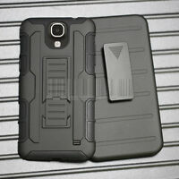 Hybrid Armor Rugged Stand Hard Case Cover&Holster For Samsung Galaxy Mega 2 G750