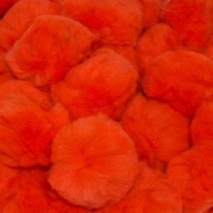 2.5 Inch Orange Large Craft Pom Poms 15 Pieces