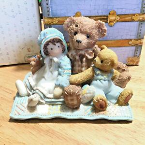 Cherished Teddies Elmer and Friends Girl Doll Bears Picnic Vintage 2000