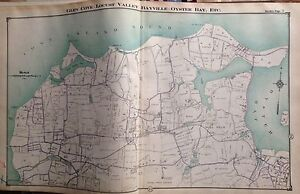 1914 GLEN COVE LOCUST VALLEY BAYVILLE OYSTER BAY NASSAU CO LONG ISLAND ATLAS MAP