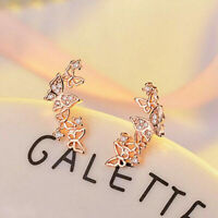 Earrings Women 925 Pair/set A Pretty Jewelry Rose Gold Stud Silver Elegant for