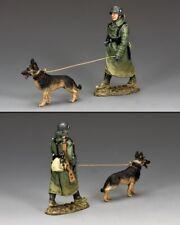 KING & COUNTRY WW2 GERMAN ARMY WS198 FELD GENDAMERIE DOG HANDLER MIB