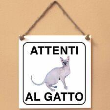 Don Sphynx 1 Attenti al gatto Targa gatto cartello ceramic tiles