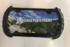 New Metal Black Cadillac Wreath License Plate Frame .