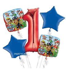 PAW PATROL 1ST BIRTHDAY PARTY HELIUM FOIL BALLOON BOUQUET 5pc KIT DECORATION