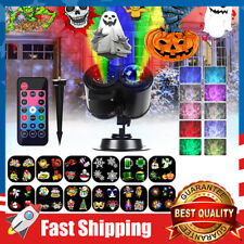 2-in-1 LED Lights Projector w/ 12 Slides Patterns,Waterproof for Holiday Decor