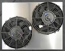 "NEW ALL ALUMINUM RADIATOR FAN SHROUD 55 56 57 CHEVY BEL AIR WITH 10"" FANS !SALE!"