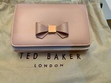 c512580da7f Brand New Ted Baker Nude Pink Cross Body Purse with Rose Gold Bow detail