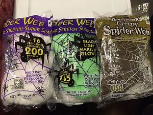 Spider Web Super Stretch - Super Creepy Party and Halloween Decorations