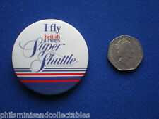 British Airways Super Shuttle  pin badge   1980s