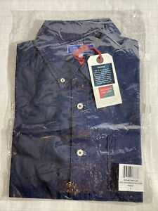 Best Made Co. Plain Weave Short Sleeve Popover Shirt Indigo Men L