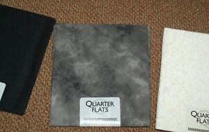 Gray Tie Dye/Black/Tan Tone on Tone Fabric 3 Patterns Fat Quarters Sewing Quilt