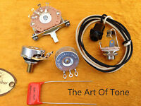TAOT Telecaster® Wiring Kit - CTS 450G Pots, Oak-Grigsby, .047 Cap Tele®