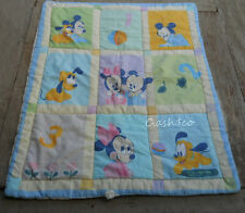 Vintage Baby quilt blanket comforter Minnie Mickey & pluto reversible RN 102074
