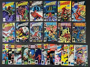 Run of (24) Daredevil (1984-86) #204-234 Marvel Comics Store Stock