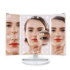 Specchio per Trucco Illuminato con LED Ingrandimento di 10x, luce Dimmerabile