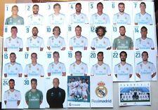 SET 27 POSTALES REAL MADRID OFICIAL 2017-18 10x15 POSTAL CARD POSTCARD FOOTBALL