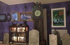 "REAL Haunted Mansion Purple Wallpaper VERY RARE Disneyland Disney World 144x24"""