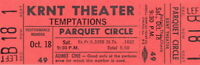 THE TEMPTATIONS 1969 CLOUD NINE TOUR UNUSED KRNT CONCERT TICKET / NM 2 MINT No.3
