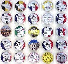 Génériques série de 24 capsules Tour de France 2019 recto jaune