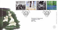 4 JULY 2000 STONE AND SOIL ROYAL MAIL  FIRST DAY COVER KILLYLEAGH SHS (a)