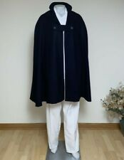Nurse cape navy blue wool with red satin, one size, new. Handmade, no brand.