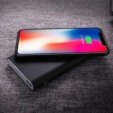 Portable 10000mAh Qi Wireless Charger Power Bank case USB battery charger