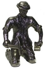 Road Worker Figurine Large 95% Tin Pewter Zinn Etain Handcrafted 9 cm 3.5 inch