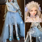 60cm BJD Doll 1/3 Ball Jointed Girl Dolls + Changable Gold Eyes + Full Outfits