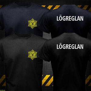 New Nordic Iceland Police Logreglan Víkingasveitin Polisen Politi Logo T-shirt