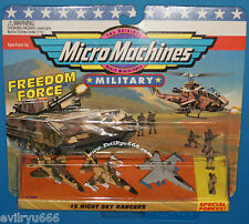 Military Micro Machines 1995 #5 NIGHT SKY RANGERS F-15, F-16, F/A-18 MOC