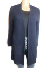 ex Chainstore Navy 8-16 Ultimate Chunky Cardigan Pockets Open Front by Asos