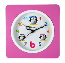 Wall Clock Vintage Modern Home Bedroom, Kitchen Pink
