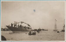More details for america's cup challenger yacht shamrock iv launch portsmouth real photo 1930