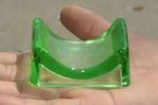 Vintage Raj Kamal Unique Green Glass Blade Sharpener , Japan