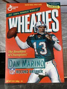 VINTAGE Dan Marino Record Breaker 12oz Wheaties Box Miami Dolphins Unopened