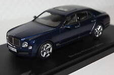 Bentley Mulsanne Speed marlin blau 1:43 Kyosho neu & OVP 05611MB