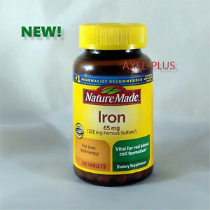 Nature Made Iron 65 mg - 365 Tablets Dietary Supplement  EXP 01/2023 NEW !