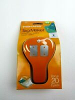 Fiskars Double Tag Maker Punch with Built In Eyelet Setter Paper Crafts - New