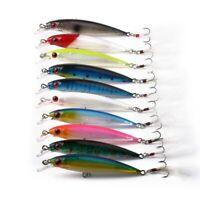 10 Piezas de SeñUelos de Pesca Crankbaits Hook Minnow Baits Tackle Crank Fi Y6E8