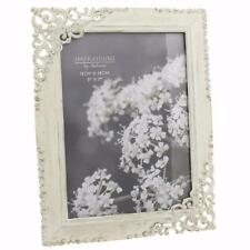 Vintage Style Ornate Cream Metal Photo Frame New Boxed 5 x 7 64857