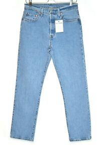 Womens Levis 501 High Rise Straight Cropped Blue PREMIUM Jeans Size 10 W28 L28